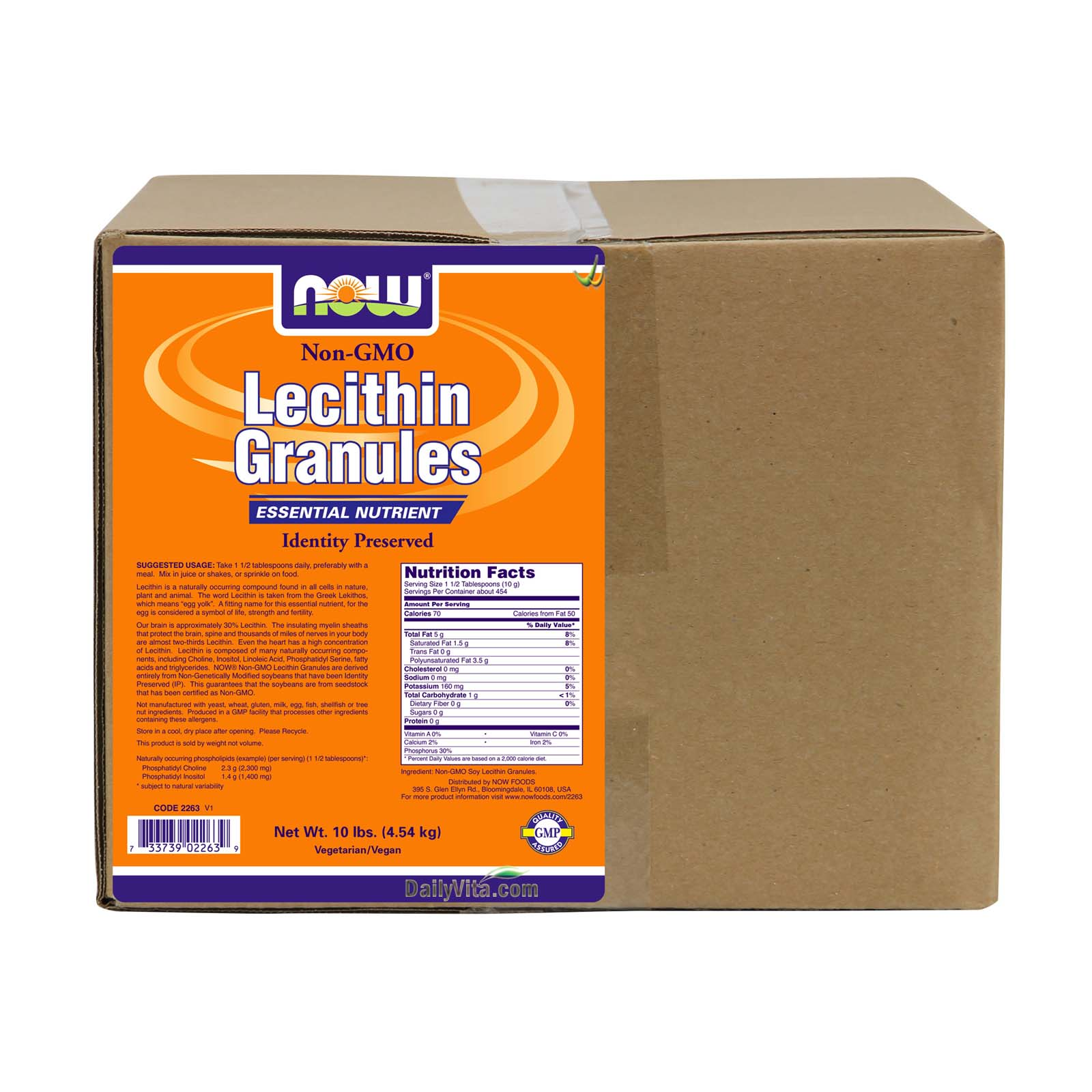 NOW® Lecithin Granules (Non-GMO) - 10 lbs.