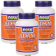 Special Bundle: 3 Bottles of NOW® ADAM™ Superior Men's Multiple Vitamin - 90 Veg Capsules