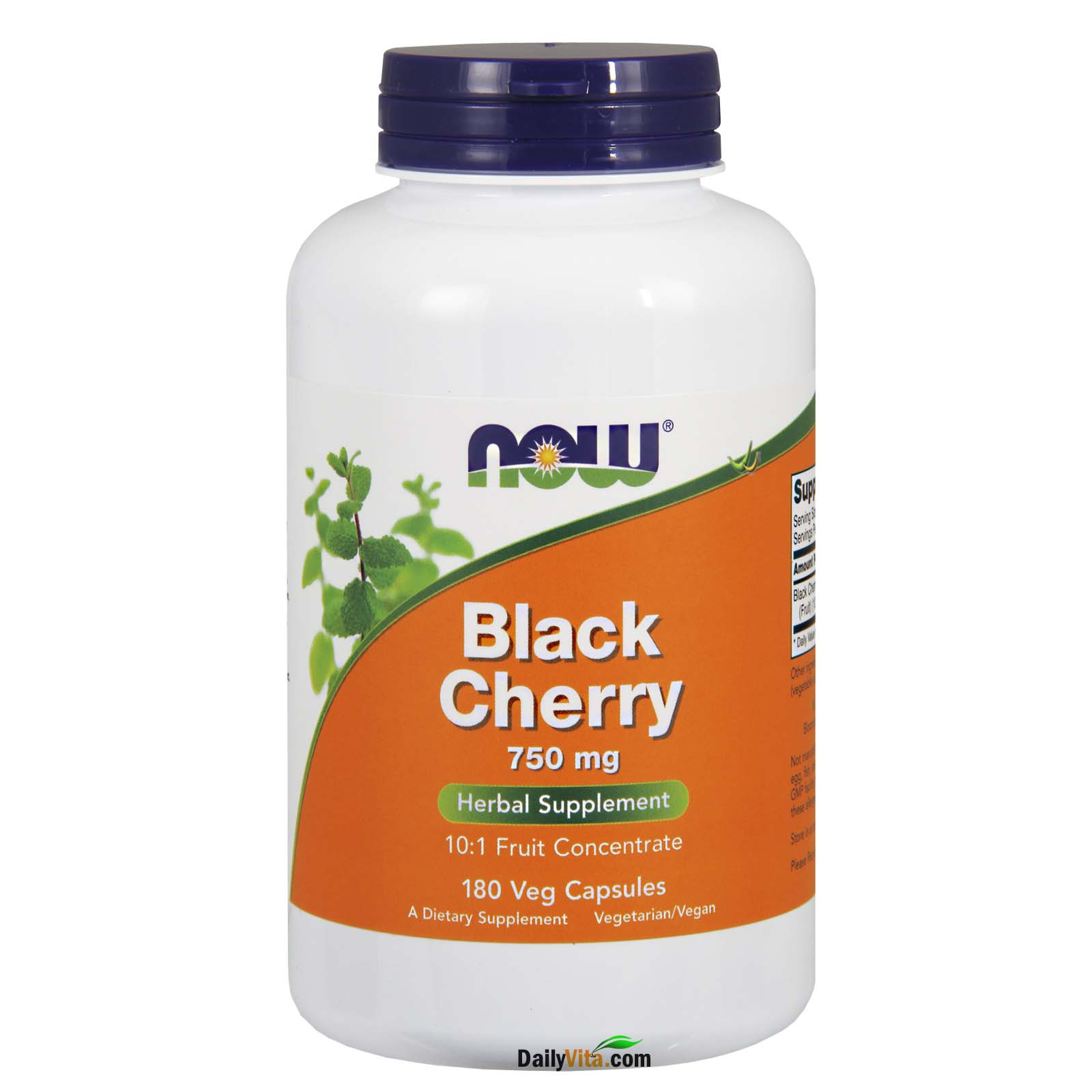 NOW® Black Cherry Fruit 750 mg - 180 Veg Capsules