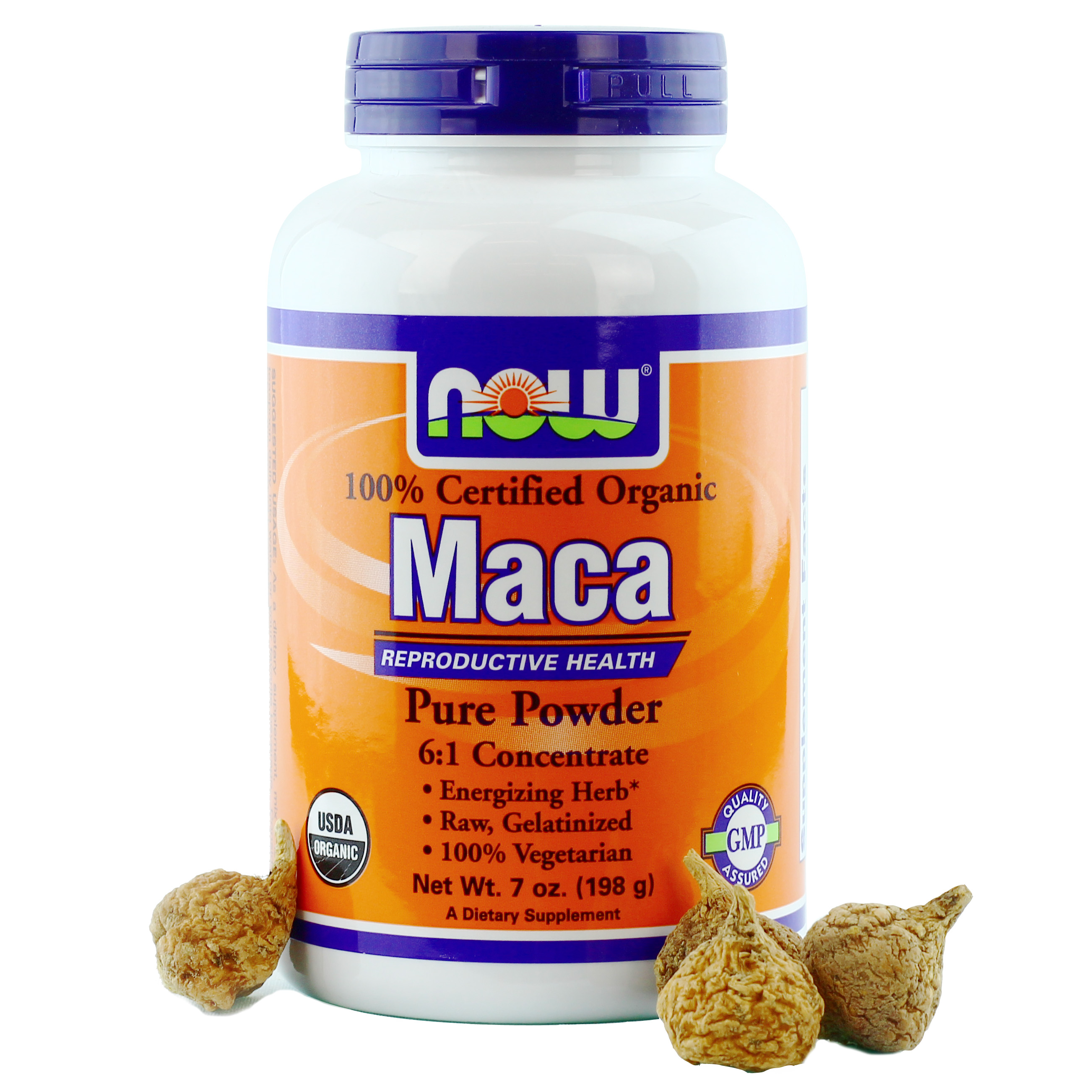 NOW® Maca Organic Pure Powder - 7 oz.