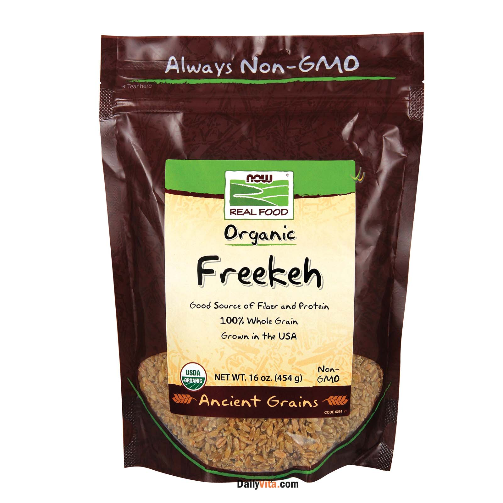NOW® Freekeh, Organic - 16 oz.