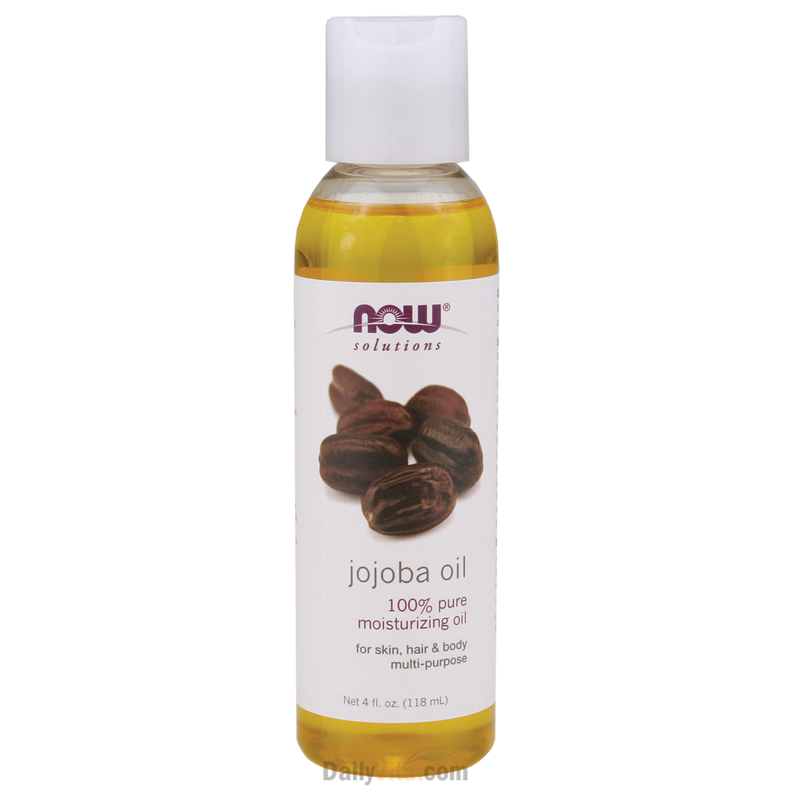NOW® 100% Pure Jojoba Oil 4Oz (120ml)