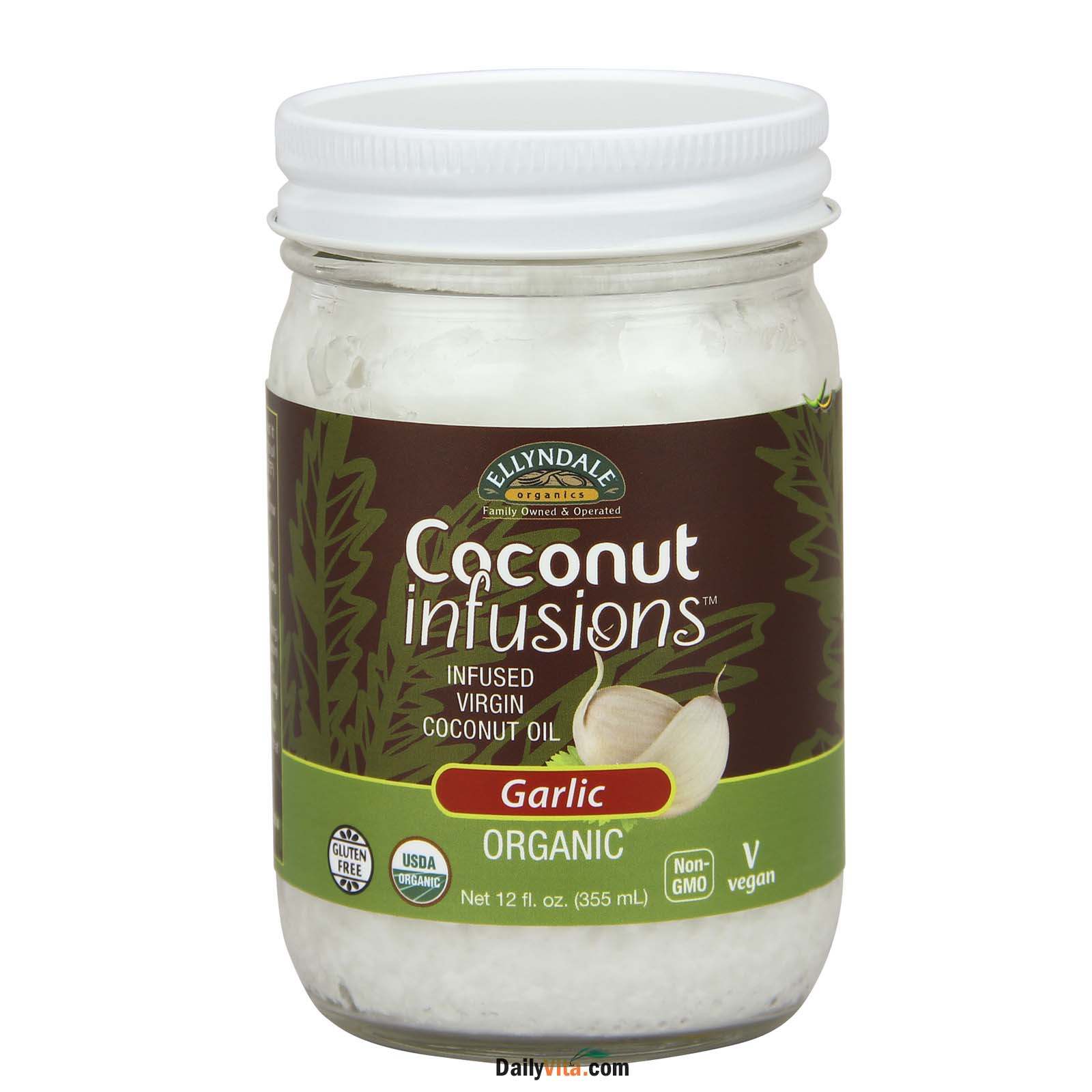 NOW® Organic Coconut Infusions™ - Garlic – 12 oz.