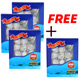 Buy 3 Get 1 Free: Natural Sun Dried Wild Caught ROUND Sea Cucumber Large - 4oz.