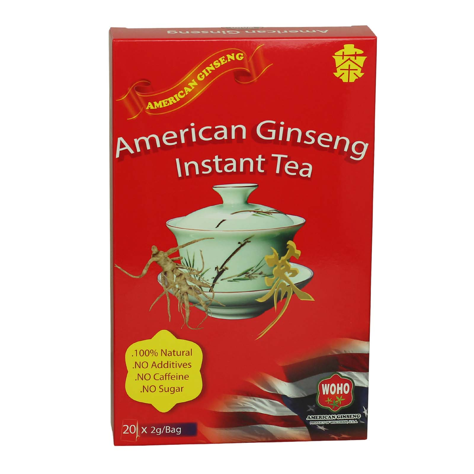 WOHO®  American Ginseng Instant Tea 20X2g Bags