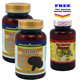 Special Bundle: Buy 2 Reishi (Ling Zhi) Spore 120 Caps Get 1 FREE Pure American Ginseng Capsules 500mg 100 Capsules