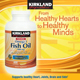 Kirkland Signature Natural Fish Oil Concentrate with Omega-3 Fatty Acids - 400 Softgels